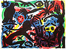 A R Penck Situation now California 1992