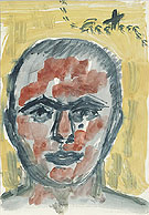 A R Penck Untitled Self Portrait 1973