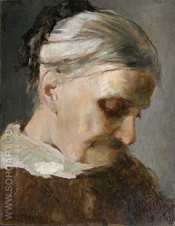 Sutdy of Old Woman 1890 - Abbott Henderson Thayer reproduction oil painting