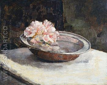 Still Life Brass Bowl 1886 - Abbott Henderson Thayer reproduction oil painting