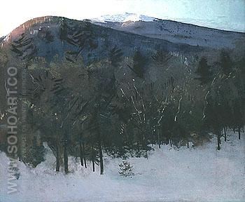 Mount Monadnock c1918 - Abbott Henderson Thayer reproduction oil painting