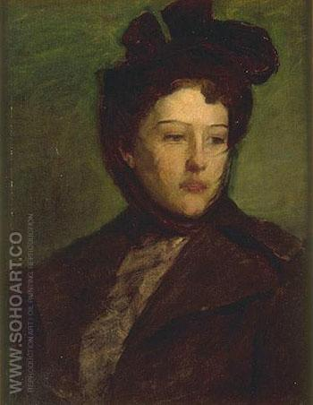 Portrait of a Woman - Abbott Henderson Thayer reproduction oil painting