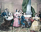 Family Concert - Achille Deveria reproduction oil painting
