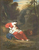 Le Repos de la Sainte Famille - Achille Deveria reproduction oil painting