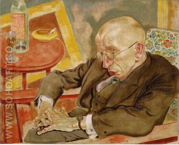 The Writer Max Herrmann Neisse 1927 - George Grosz reproduction oil painting