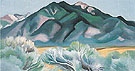 Georgia O'Keeffe Taos Mountain New Mexico 1930