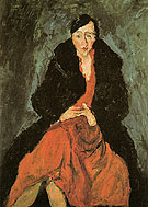 Chaim Soutine Portrait of Madeleine Castaing c1929