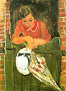 Woman Ceaning with Umbrella c1934 - Chaim Soutine