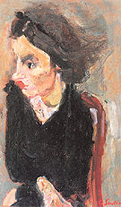 Woman in Profile c1937 - Chaim Soutine