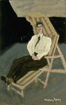 Milton Avery Seated Figure on Deck Chair 1942