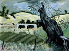 Landscape with Tree - Milton Avery reproduction oil painting