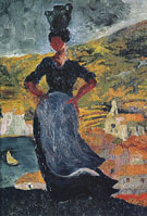 Salvador Dali Portrait of Hortensia Peasant Woman from Cadaques c1918