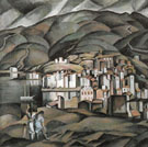 Cadaques seen from the Tower of Creus c1923 - Salvador Dali