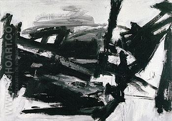 Lehigh 1956 - Franz Kline reproduction oil painting