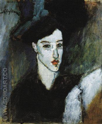 The Jewess c1908 - Amedeo Modigliani reproduction oil painting
