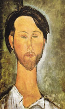 Portrait of Leopold Zborovski 1918 - Amedeo Modigliani