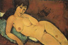 Amedeo Modigliani Nude on a Blue Cushion 1917