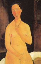 Seated Nude with Necklace 1917 - Amedeo Modigliani