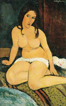 Seated Nude 1917 - Amedeo Modigliani