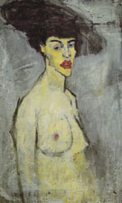Female Nude with Hat 1907 - Amedeo Modigliani