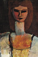 Womans Head 1910 - Amedeo Modigliani reproduction oil painting