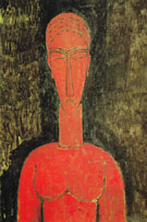 The Red Bust 1913 - Amedeo Modigliani