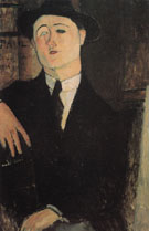 Amedeo Modigliani Reproduction oil painting of Portrait of Paul Guillaume 1916