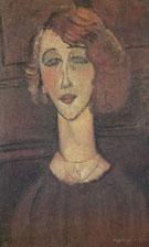Amedeo Modigliani Reproduction oil painting of The Blonde Renee 1916