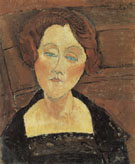 Amedeo Modigliani Reproduction oil painting of Woman with Red Hair and Blue Eyes 1917