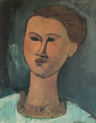 Amedeo Modigliani Reproduction oil painting of Head of a Woman 1915