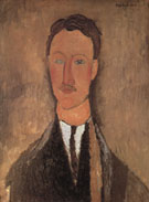 Amedeo Modigliani Reproduction oil painting of Portrait of Leopold Survage c1917