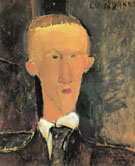 Amedeo Modigliani Reproduction oil painting of Portrait of Blaise Cendrars 1917