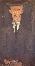Amedeo Modigliani Reproduction oil painting of Man in a Hat 1916