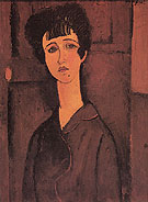 Amedeo Modigliani Reproduction oil painting of Portrait of a Young Woman Victoria 1916