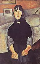 Amedeo Modigliani Reproduction oil painting of The Country Girl 1919