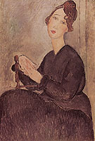 Amedeo Modigliani Reproduction oil painting of Seated Woman 1918