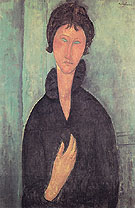 Amedeo Modigliani Reproduction oil painting of Woman with Blue Eyes A 1918