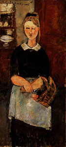 Amedeo Modigliani Reproduction oil painting of Pretty Housewife