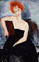 Amedeo Modigliani Reproduction oil painting of Redhead Dress