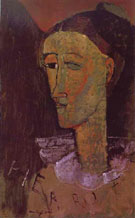 Amedeo Modigliani Reproduction oil painting of Pierrot 1915