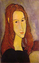 Amedeo Modigliani Reproduction oil painting of Portrait of a Girl 1917