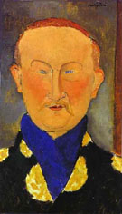 Portrait of Leon Bakst 1917 - Amedeo Modigliani
