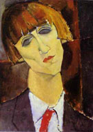 Portrait of Madame Kisling c1917 - Amedeo Modigliani