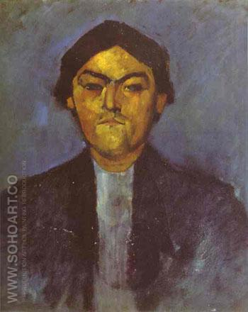 Portrait of Pedro 1909 - Amedeo Modigliani reproduction oil painting