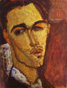 Portrait of the Spanish Painter Celso Lagar 1915 - Amedeo Modigliani reproduction oil painting