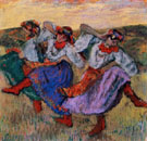 Russian Dancers 1899 - Edgar Degas reproduction oil painting