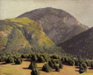 Ernest L Blumenschein Tree Covered Mountains