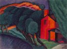 Oscar Bluemner Glowing Night