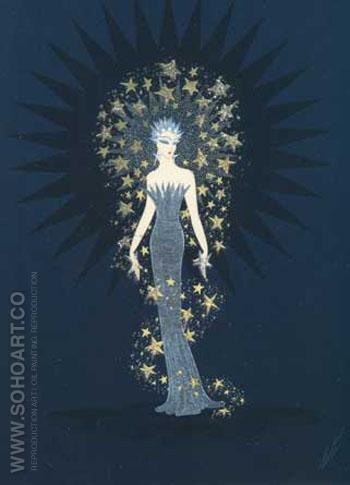 Starstruck - Erte reproduction oil painting