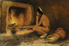 E Irving Couse Roasting Corn 1904